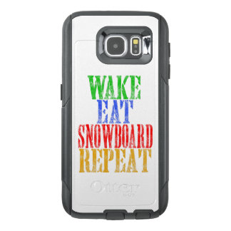 WAKE EAT SNOWBOARD REPEAT OtterBox SAMSUNG GALAXY S6 CASE
