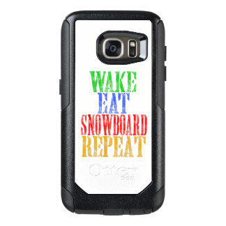 WAKE EAT SNOWBOARD REPEAT OtterBox SAMSUNG GALAXY S7 CASE