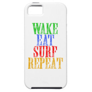 WAKE EAT SURF REPEAT iPhone 5 CASES