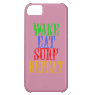 WAKE EAT SURF REPEAT iPhone 5C CASES