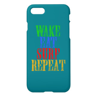 WAKE EAT SURF REPEAT iPhone 7 CASE