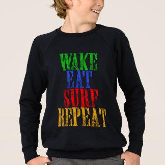 WAKE EAT SURF REPEAT SWEATSHIRT