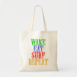 WAKE EAT SURF REPEAT TOTE BAG