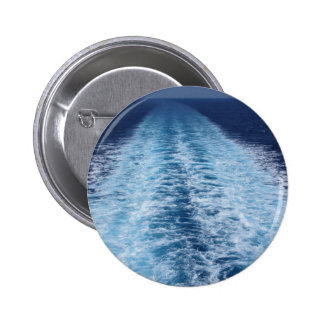 Wake from cruise ship 2 inch round button