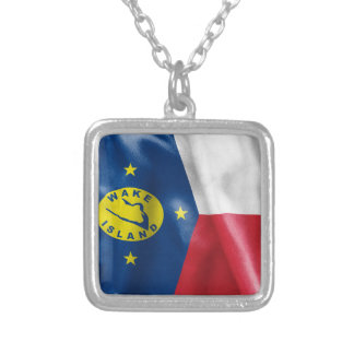 Wake Island Flag Pendant Necklace