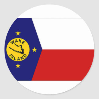 Wake Island Local Unofficial Flag Classic Round Sticker