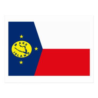 Wake Islands Flag Postcard