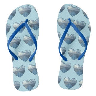 Wake Love Hearts Flip Flops