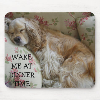 """WAKE ME AT DINNER TIME"" MOUSE PAD"