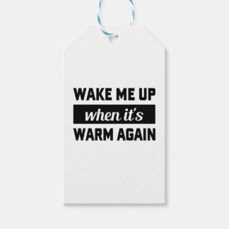 Wake Me When It's Warm Gift Tags