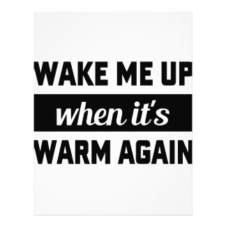 Wake Me When It's Warm Letterhead