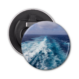 wake of a cruise ship bottle opener