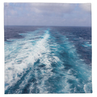 wake of a cruise ship napkin