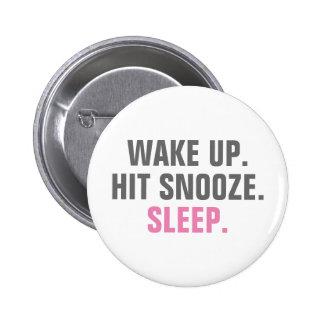 Wake Up and Sleep 2 Inch Round Button
