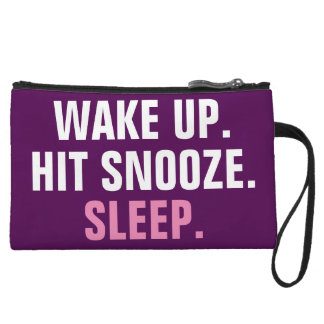 Wake Up and Sleep Wristlet Clutches