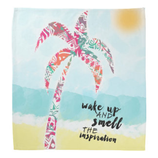 wake up and smell the inspiration, beach and palm bandana