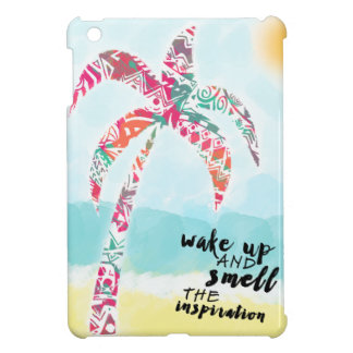wake up and smell the inspiration, beach and palm case for the iPad mini