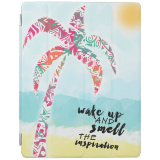 wake up and smell the inspiration, beach and palm iPad cover