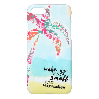 wake up and smell the inspiration, beach and palm iPhone 8/7 case