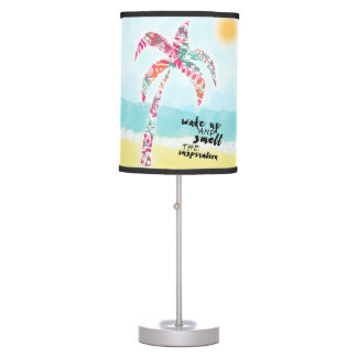 wake up and smell the inspiration, beach and palm table lamp