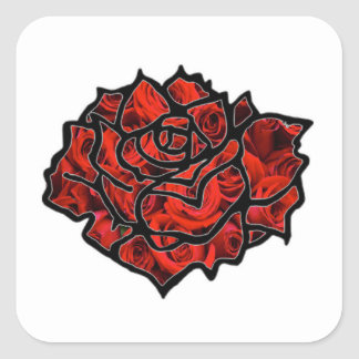 Wake Up and Smell The Roses Square Sticker