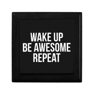 Wake Up, Be Awesome, Repeat - Inspirational Gift Box