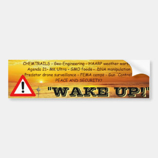 Wake Up Bumper Sticker