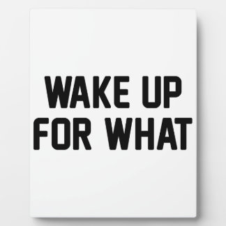 Wake Up For What Plaque