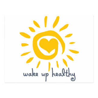 Wake Up Healthy Postcard
