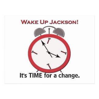 WAKE UP JACKSON POSTCARD