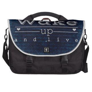 Wake Up & Live Laptop Messenger Bag