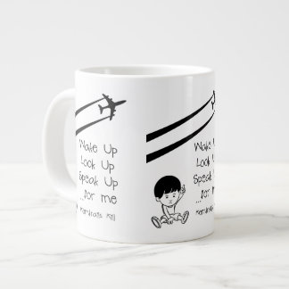 Wake Up Look Up Speak Up For Me Chemtrails Kill Jumbo Mug