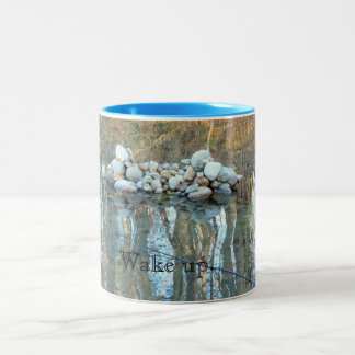 Wake Up Mug with Walden Pond Cairn