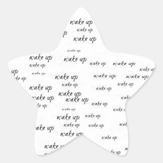 Wake Up Star Sticker