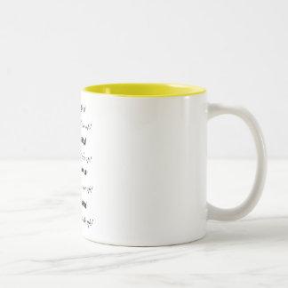 """Wake Up!"" Theresa Hartman Two-Tone Coffee Mug"