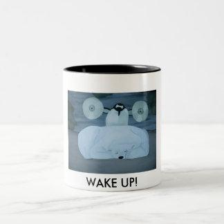 WAKE UP! Two-Tone COFFEE MUG