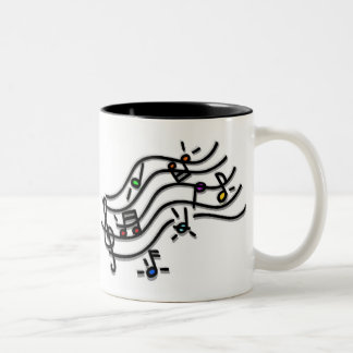 Wake Up With a Song in Your Heart Two-Tone Coffee Mug