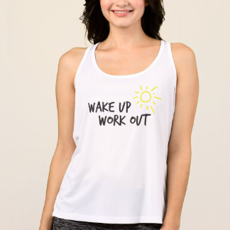 Wake up + Work out Tank Top