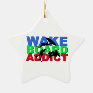 Wakeboard Addict Ceramic Ornament