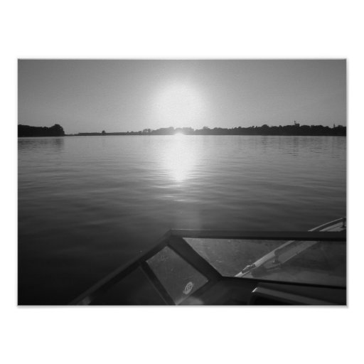 Wakeboard sunset poster