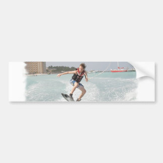 Wakeboarder Jumping Bumper Sticker