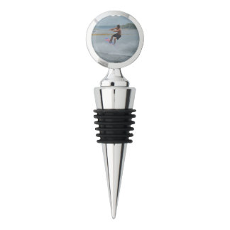 Wakeboarder Letting Go Wine Stopper