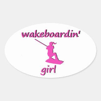 Wakeboardin' Girl Sticker