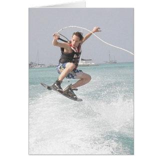 Wakeboarding Greeting Card