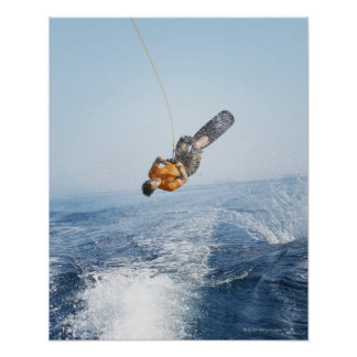 Wakeboarding Stunt Poster