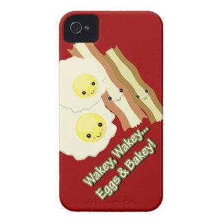 wakey wakey eggs and bakey kawaii bacon eggs iPhone 4 Case-Mate case