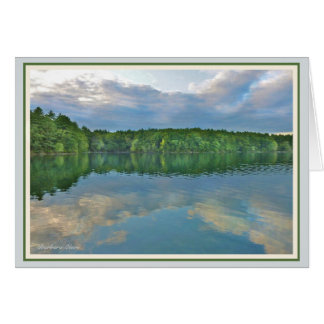 *Walden Pond:Bluebird carries the sky on his back. Card