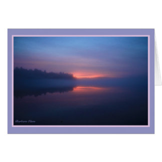 Walden Pond sunset Card