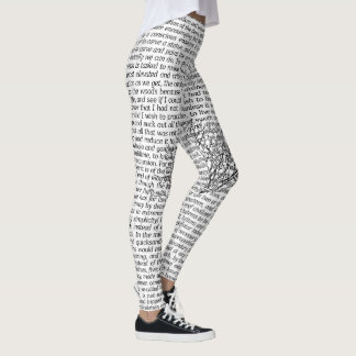 Walden Woods Literary Text Leggings