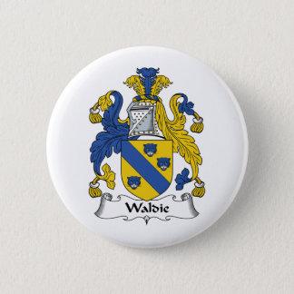 Waldie Family Crest 2 Inch Round Button